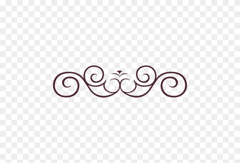 Curly Lines Divider - PNG Divider