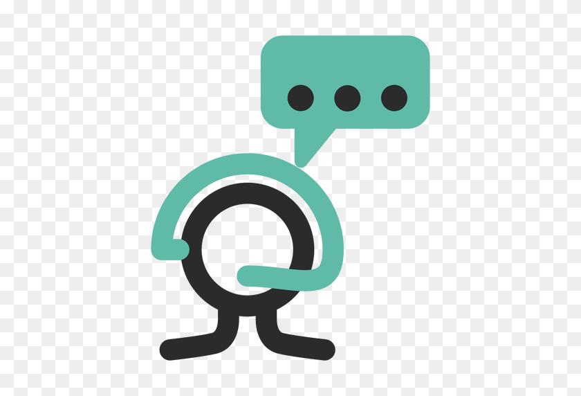 Customer Service Colored Stroke Icon - Customer Service PNG