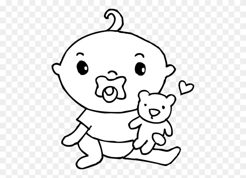 Cute Baby Boy Coloring Page