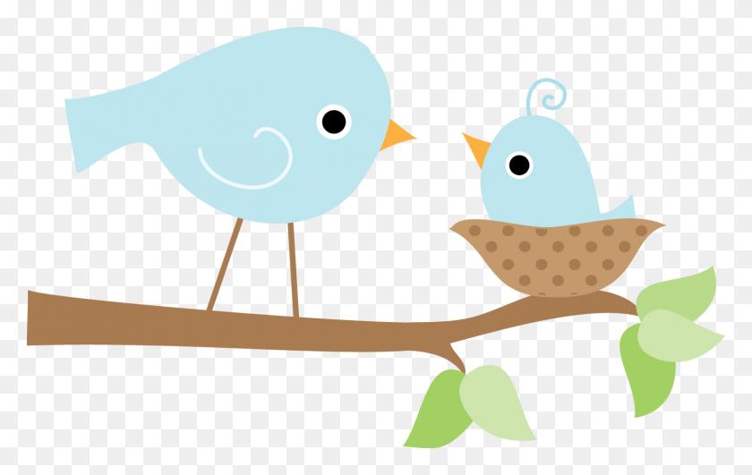 Cute Bird Nest Clip Art, Cute Bird Tree Clipart - Cute Bird Clipart