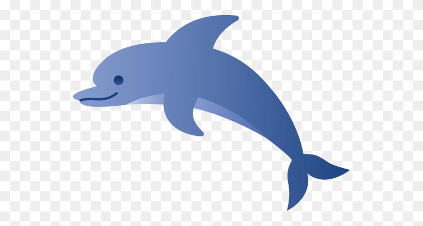 Cute Blue Dolphin - Marine Clipart