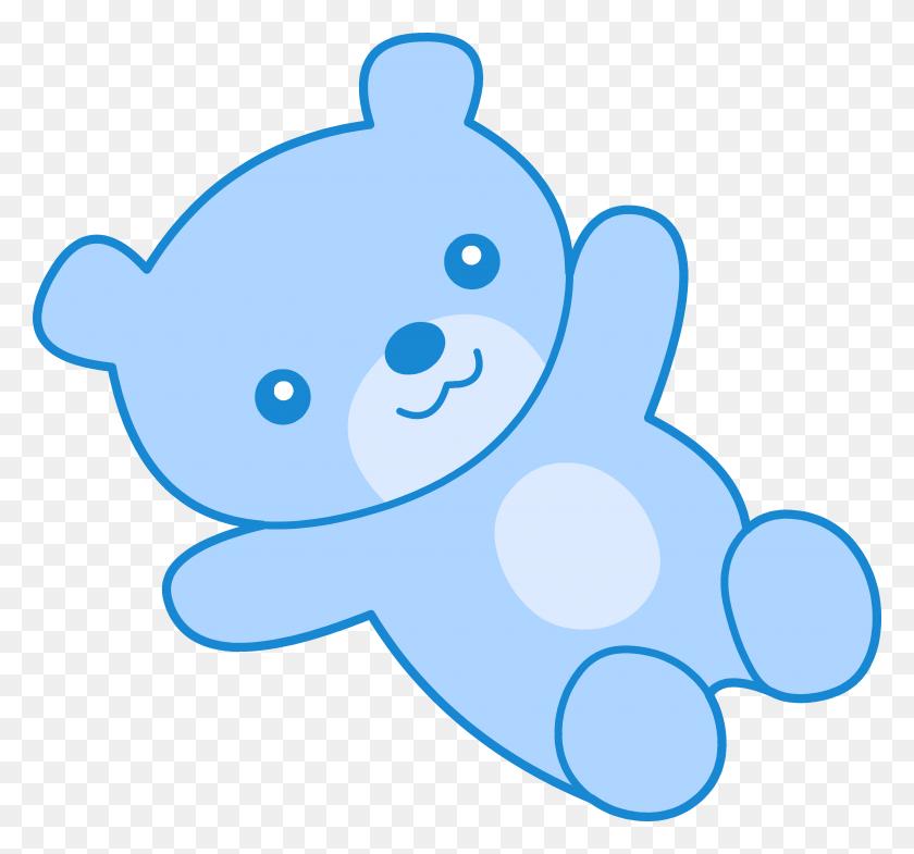 Cute Blue Teddy Bear Clip Art - Panda Bear Clipart
