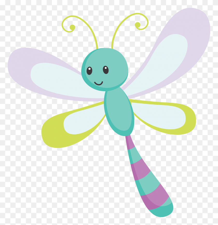 Cute Cartoon Dragonfly Character Insect Isolated White - Dragonfly Black And White Clipart