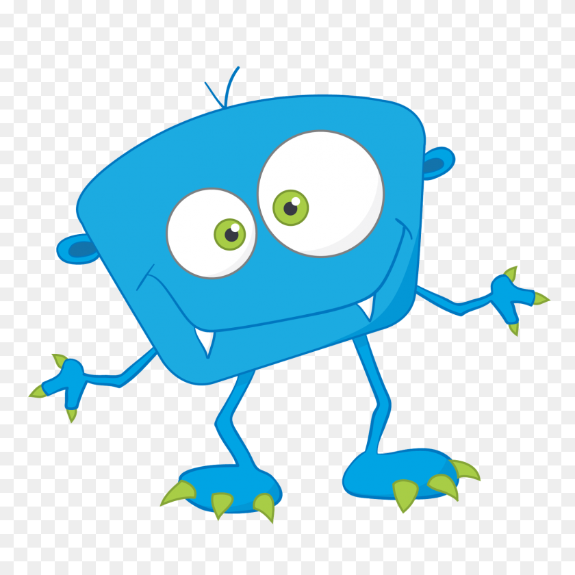 1600x1600 Cute Clip Art Monsters Clipart Image - Monster Clipart