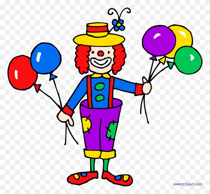 1024x942 Cute Clown With Balloons Clip Art Mail Clipart Balloon - Mail Clipart