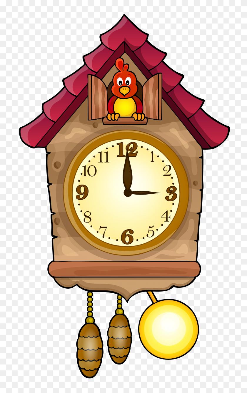 Cute Cuckoo Clock Png Clip Art - School Clock Clipart