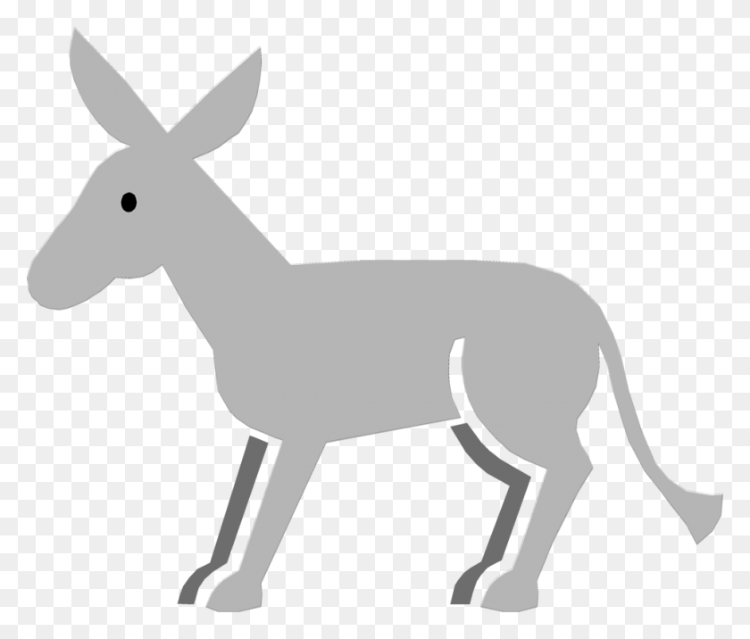Cute Donkey Line Art - Donkey Clipart