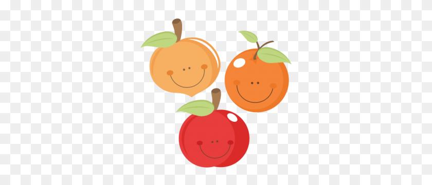 Cute Fruit Peach Apple Orange Scrapbook Cuts Cutting - Peach Clipart