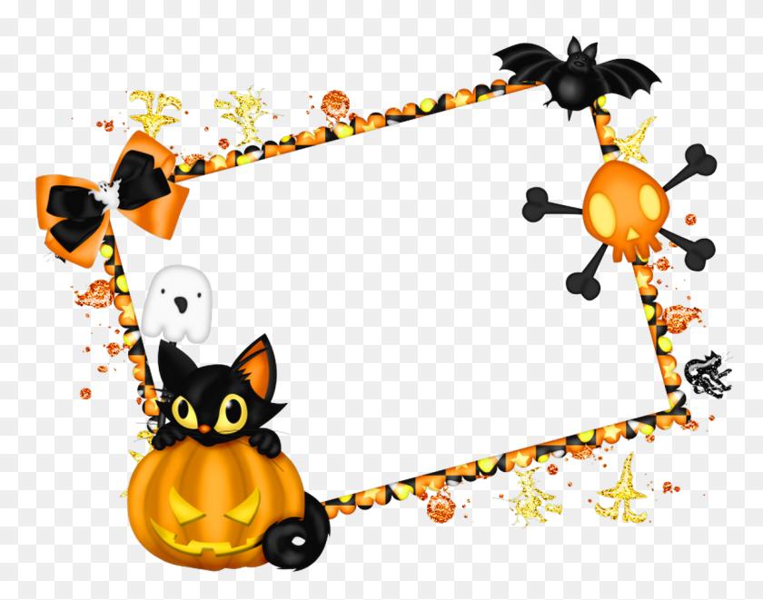 Cute Halloween Border Frame - Free Halloween Clip Art Borders