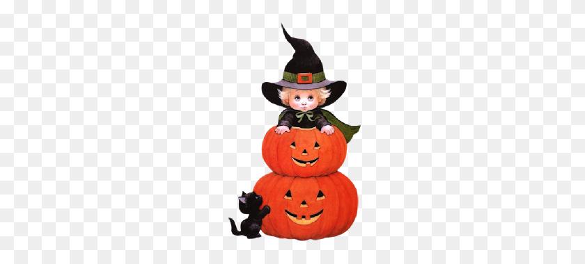Cute Halloween Clip Art Cute Halloween Cartoon Baby Witches - Pumpkin Halloween Clipart