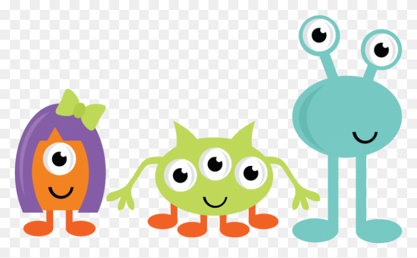 800x473 Cute Monsters For Scrapbooking Monster Svgs Cute - Monster Face Clipart