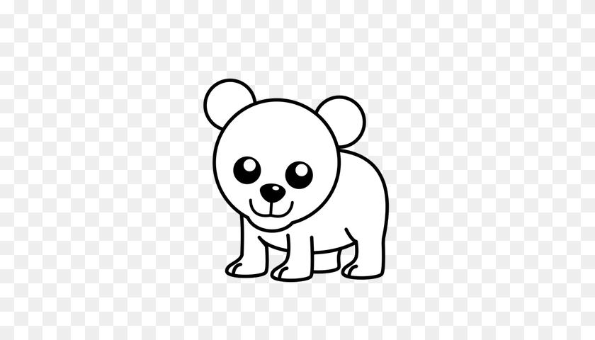 Cute Polar Bear Cartoon Clipart Free Download Best Pictures - Polar Bear PNG