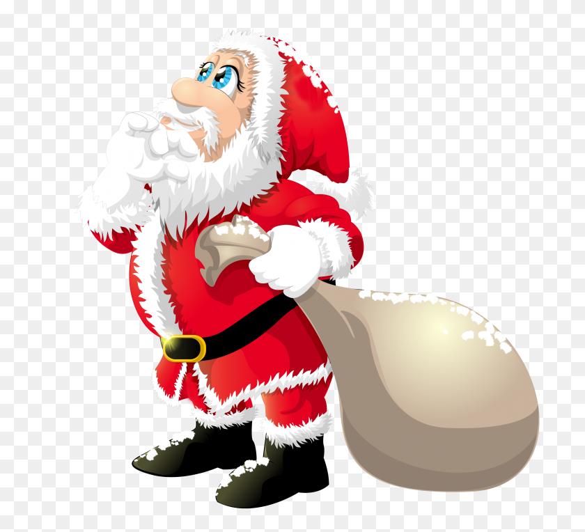 Cute Santa Claus - Santa Claus Clipart