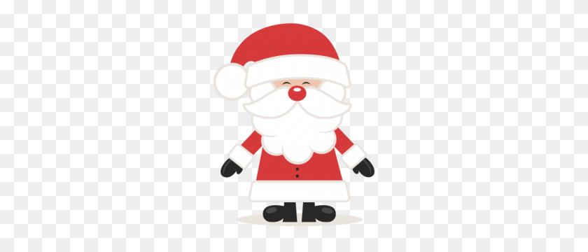 Cute Santa Scrapbook Cute Clipart - Cute Santa Clipart