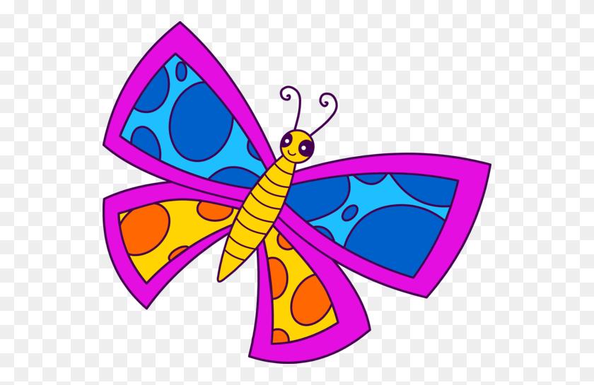 Cute Spotted Neon Butterfly Clip Art Flowersugs! - Cute Butterfly Clipart