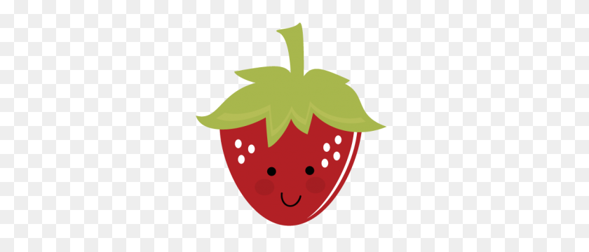 Cute Strawberry Clip Art, Strawberry Clipart Cartoon - Strawberry Cheesecake Clipart