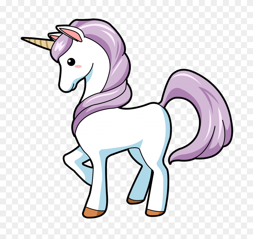 Cute Unicorn Clip Art - PNG Cute