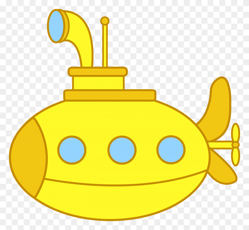 5486x5038 Cute Yellow Submarine Christmas Ornaments Felt - Shipwrecked Vbs Clipart
