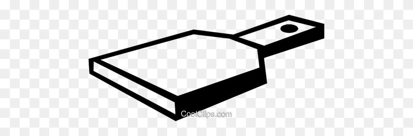 Cutting Board Royalty Free Vector Clip Art Illustration - Cutting Board Clipart