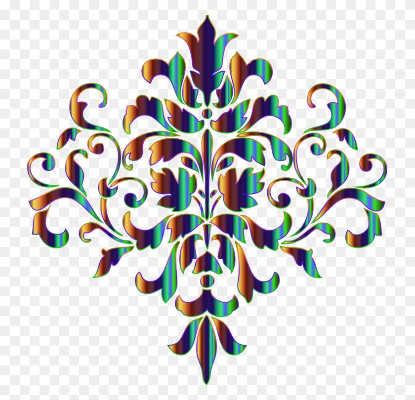 Damask Stencil Designs Ornament Textile - Damask Clipart