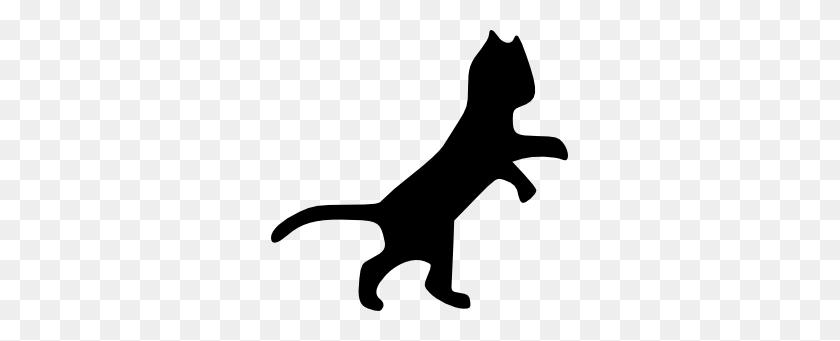 Dancing Cat Clip Art - Running Cat Clipart