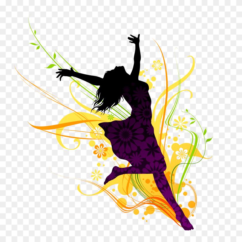 3300x3300 Dancing Girl Png Danc - Free Dance Clip Art