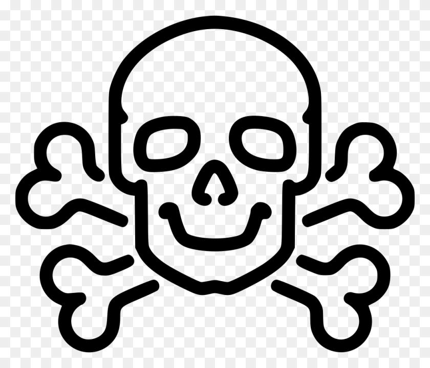 Danger Poison High Voltage Death Skull Jolly Roger Bone Bones - Skull And Bones PNG