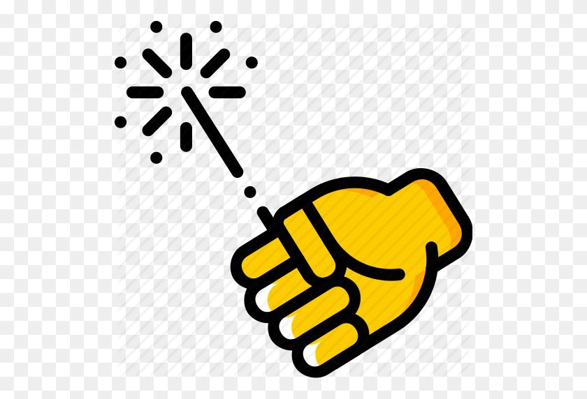 Holding Sparklers Clip Art