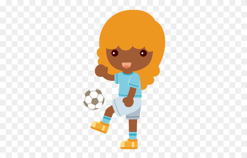 Dani Moraes - Girl Kicking Soccer Ball Clip Art