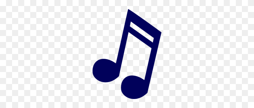 228x300 Dark Blue Music Note Clip Art - Free Clipart Music Notes