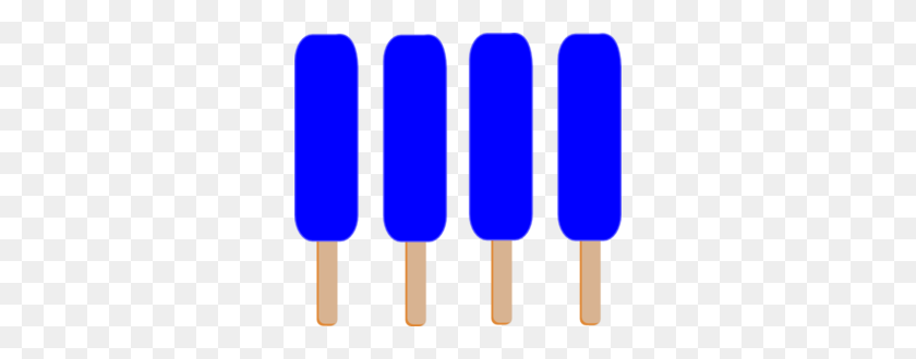 Dark Blue Single Popsicle Clip Art - Popsicle Clip Art Free