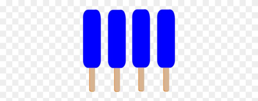 Dark Blue Single Popsicle Clip Art - Popsicle Clip Art Free