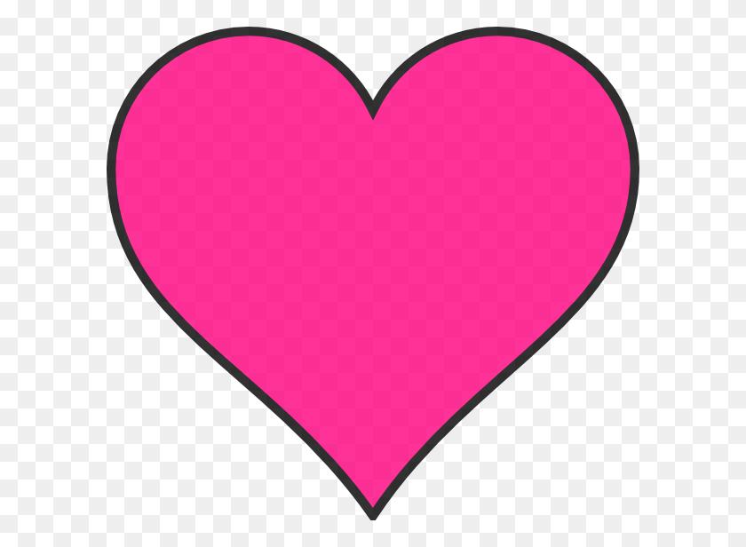 Dark Pink Heart Clip Art - Pink Heart Clipart