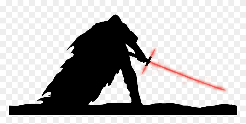1600x746 Darth Vader Clipart Silhouette - Saber Clipart