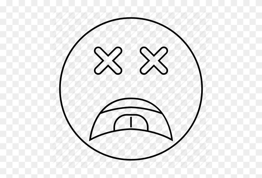 Dead, Emoji, Emoticon, Face, Sad, Smiley Icon - Sad Smiley Face Clip Art
