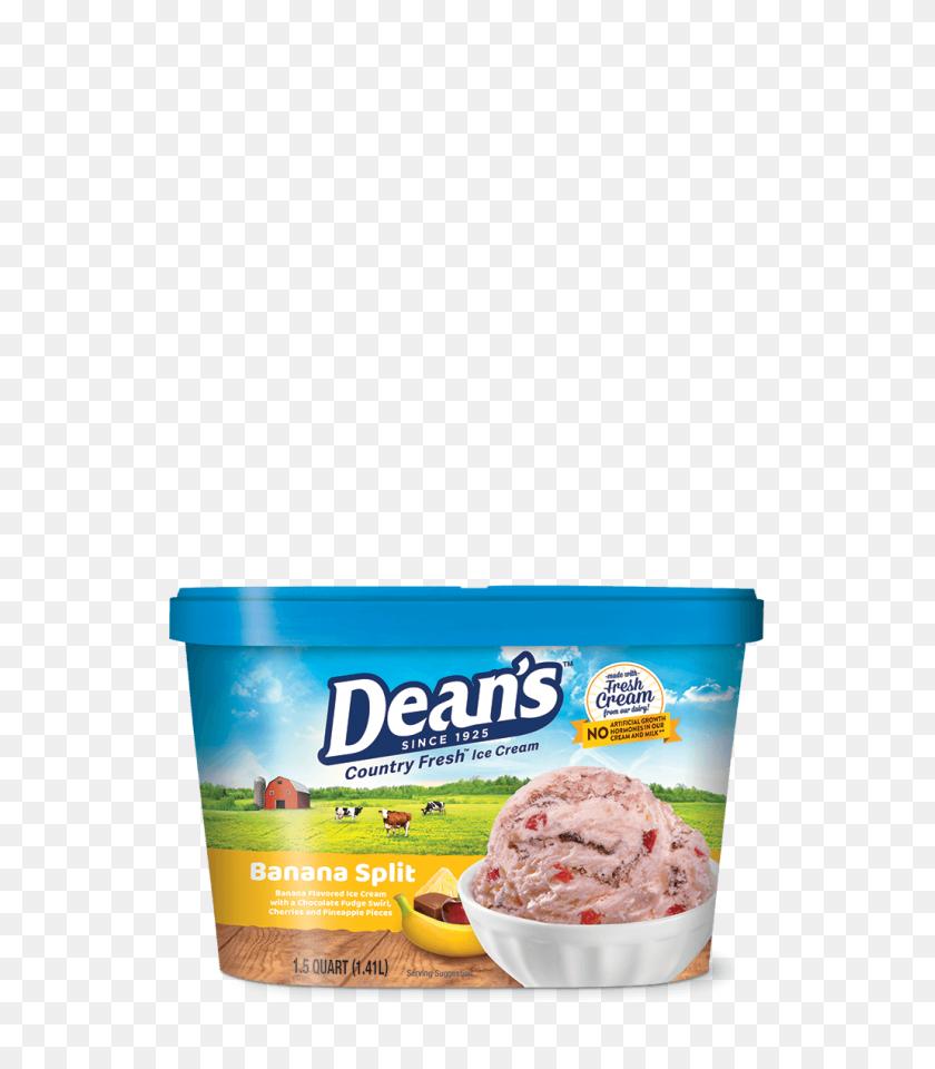 Dean's Premium Banana Split Ice Cream Dean's Dairy - Banana Split PNG