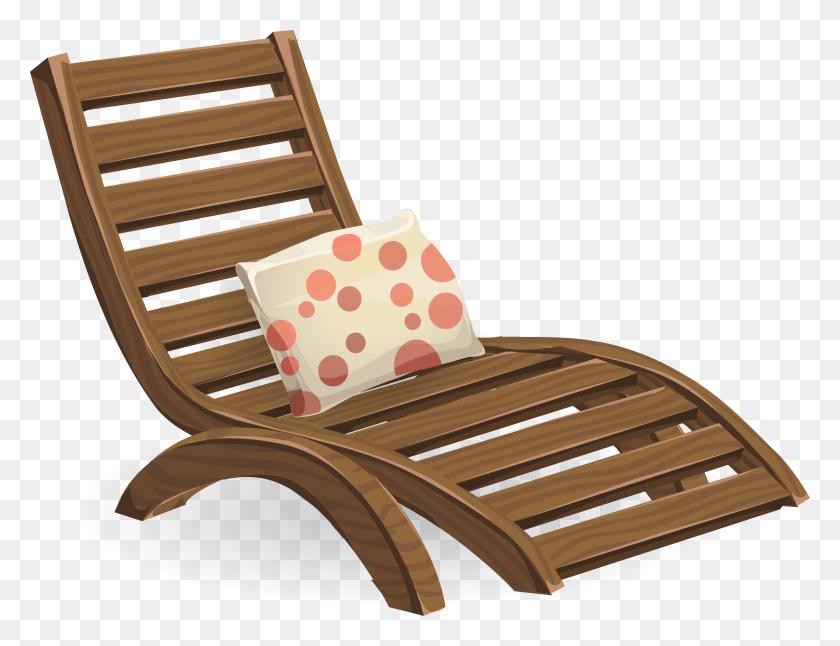 Deck Chair Clip Art - Lounge Chair Clipart