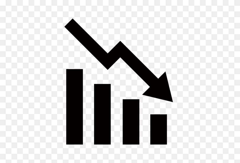 Decline, Graph, Line Graph Icon With Png And Vector Format - Line Graph PNG