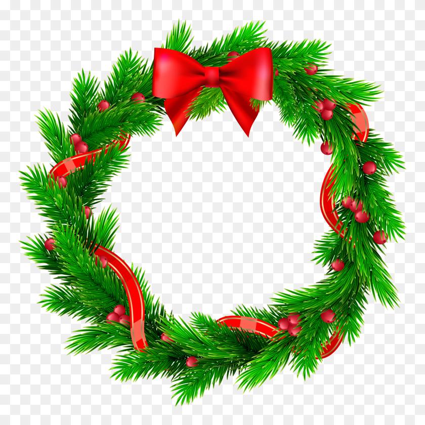 Christmas Wreath Clipart Png Free Christmas Wreath Clip Art Wreath