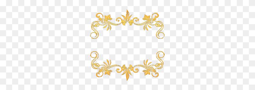 Decorative Frameworks In Gold Style, Gold Frames, Png - Gold Frame PNG