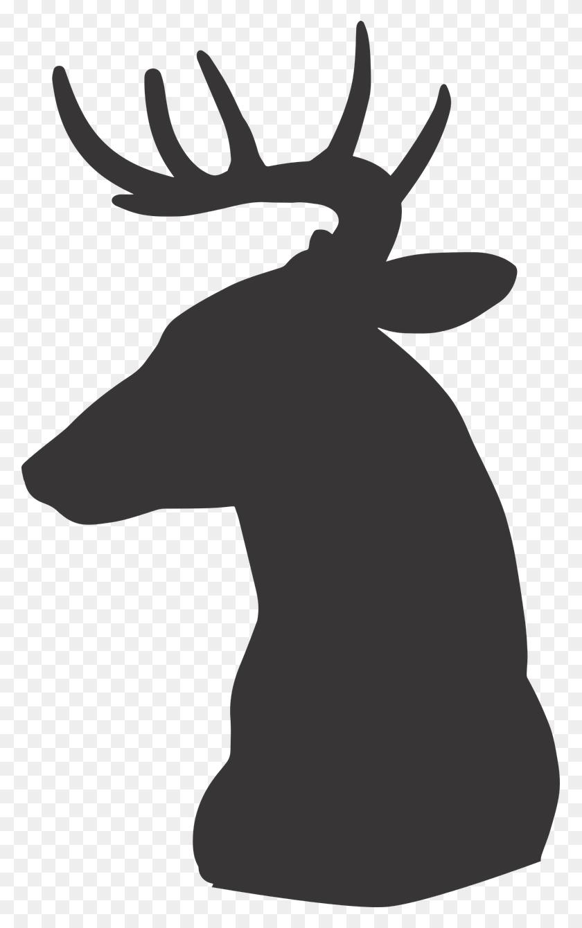 Deer, Deer Silhouette, Silhouette, Animal, Wild - Reindeer Silhouette Clipart
