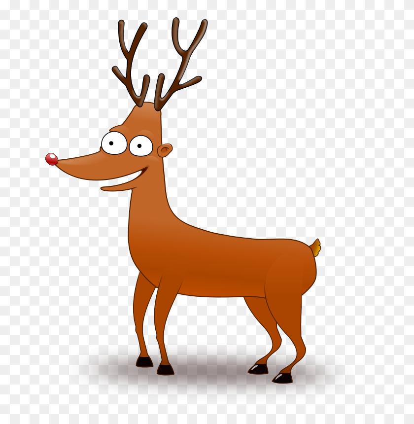 Deer Head Clip Art - Reindeer Head Clipart