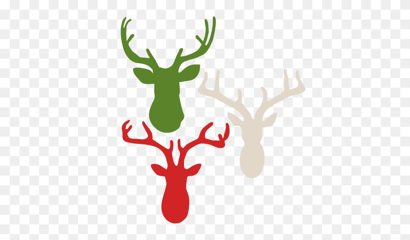 Deer Heads Scrapbook Cute Clipart - Elk Head Clip Art