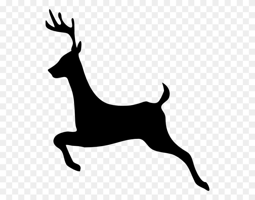 Deer Outline Profile Clip Art - Reindeer Head Clipart