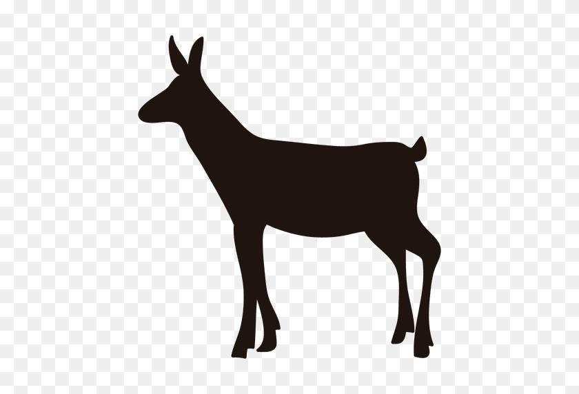 Deer Silhouette Standing - Deer Silhouette PNG