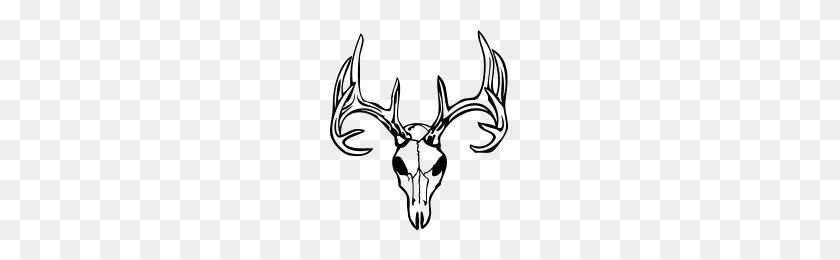 Deer Skull Deer Skull Window Decal - Deer Skull PNG