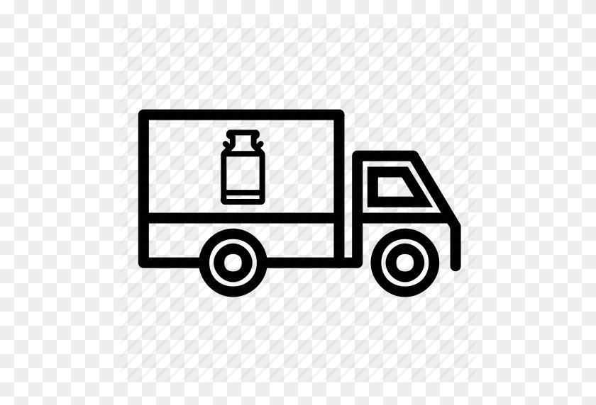 Delivery Truck, Milk Delivery, Milk Van, Transport, Transportation - Delivery Truck PNG