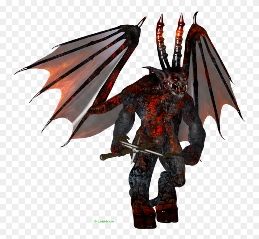 935x855 Demon - Loki PNG