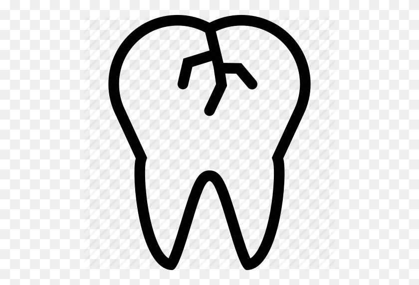 Dental Outline' - Tooth Outline Clipart