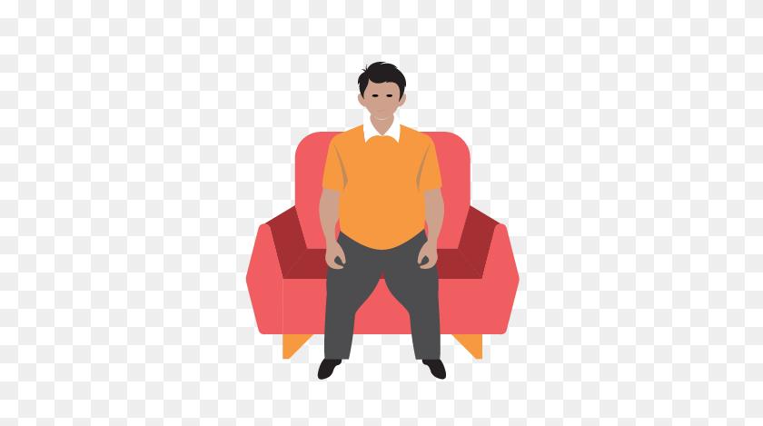 417x409 Depression Clipart Sedentary - Symptoms Clipart